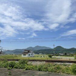 北側の風景 山脈が見える長閑な風景!